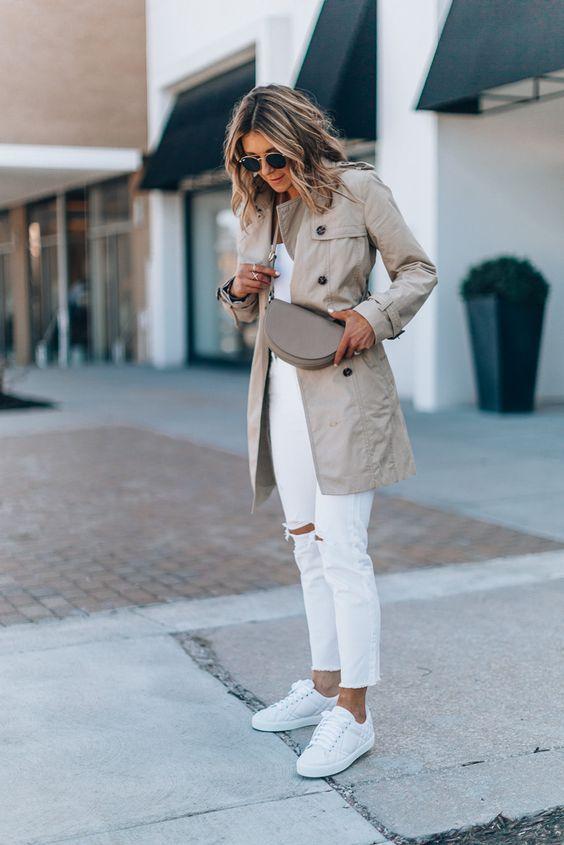 Já sabemos que a Calça Branca combina com tudo, mas nunca é demais looks lindos e novas combinações para nos inspirar e nos fazer usar nossas peças do guarda-roupa de uma maneira nova! Aposte em looks com tons clar