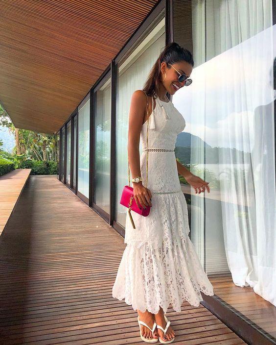 20 modelos de vestidos branco com renda para te inspirar - Primavera Verão
